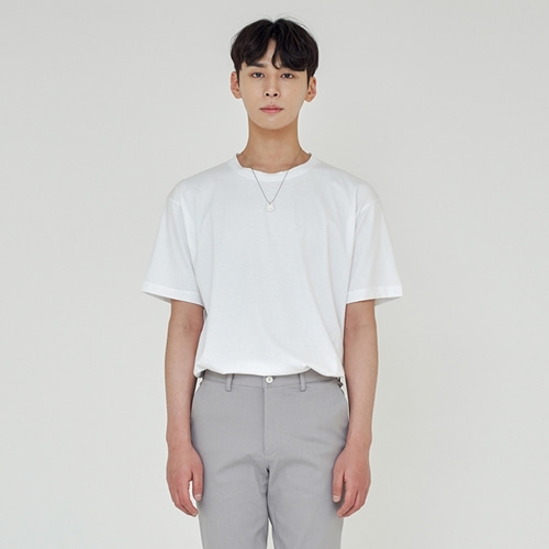 [트립르센스] LOOSE FIT SILKET T-SHIRTS WHITE