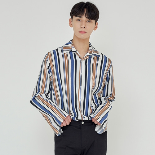 [트립르센스] TLS STRIPE SHIRTS 1923 BLUE