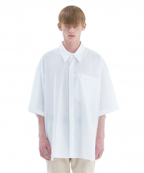 [에드] INVOICE LABEL SHIRT WHITE