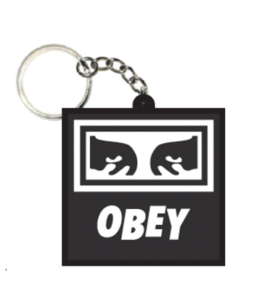 [오베이] ICON EYES RUBBER KEYCHAIN - BLACK 키체인
