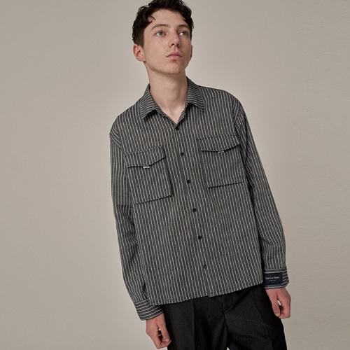 [트립르센스] TAPE POCKET LINEN SHIRTS GREY