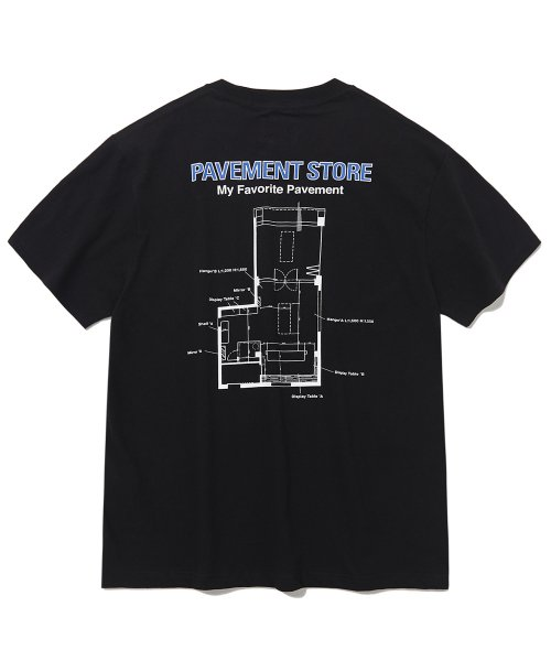 [페이브먼트] PAVEMENT STORE SHORT SLEEVE IS [BLACK]