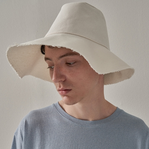[트립르센스] ROUGH COTTON BUCKET HAT WHITE