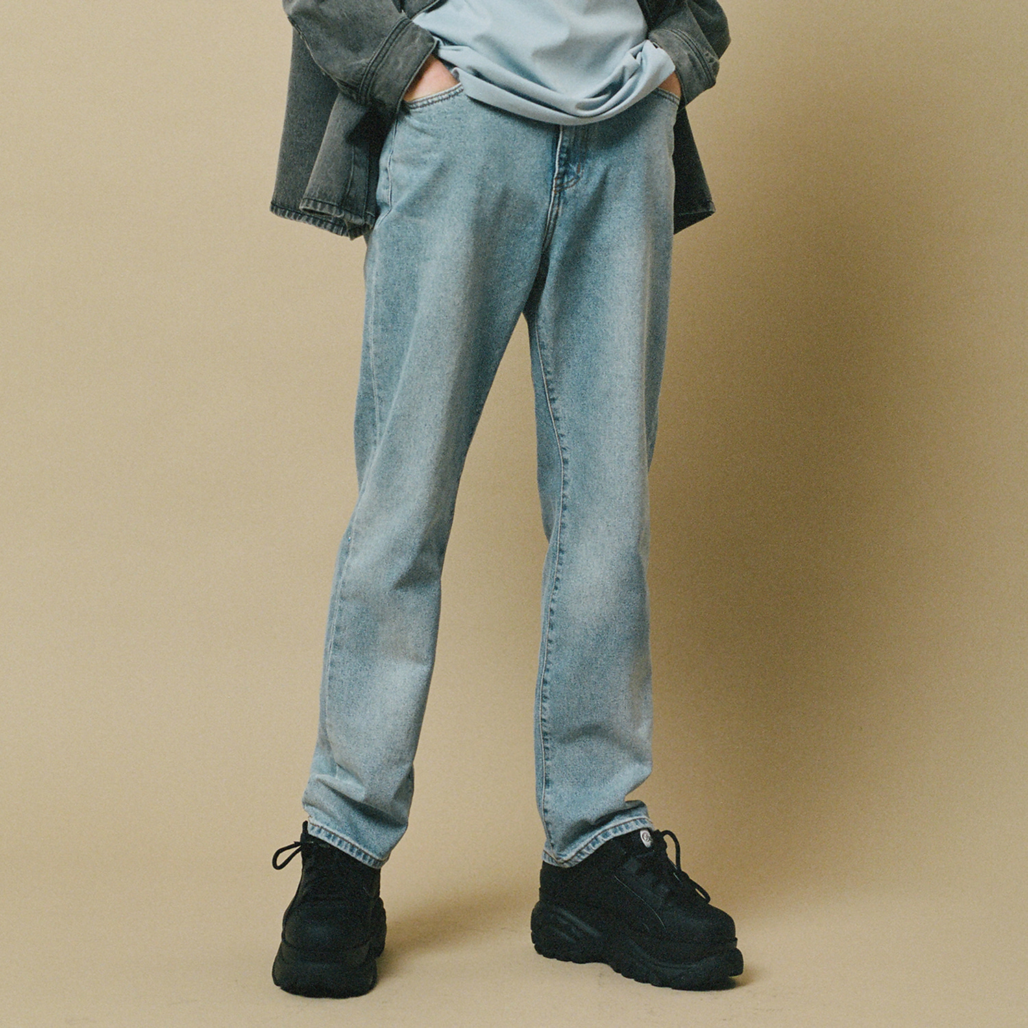 [랩 101] TOM BASIC STONE WASHING DENIM