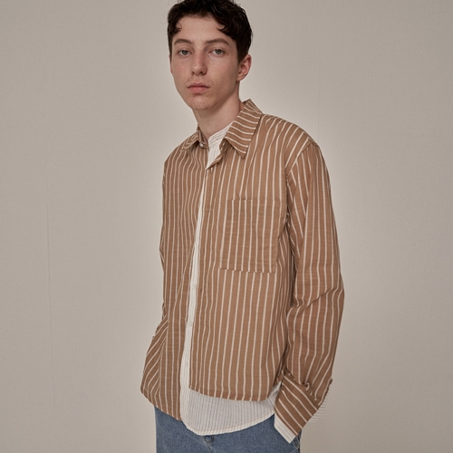 [트립르센스] ST LAYERED LINEN SHIRTS BEIGE