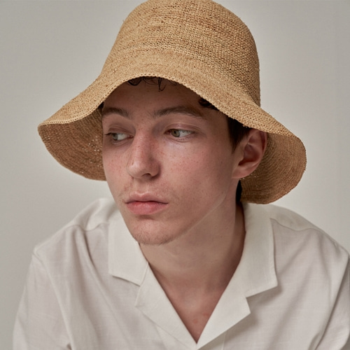 [트립르센스] NATURAL THIN WEAVING RAFFIA HAT NATURAL