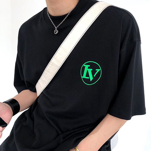 [4BLESS] Circle High Neck Over T-shirts Black