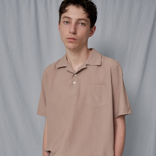 [트립르센스] COLOR LINEN PK SHIRTS BEIGE