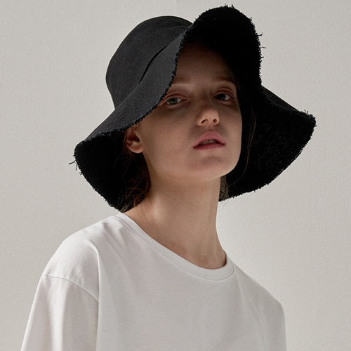 [트립르센스] ROUGH COTTON BUCKET HAT BLACK