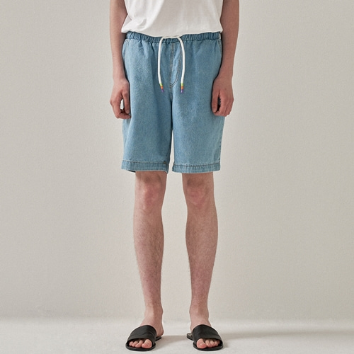 [트립르센스] COLOR STRAP DENIM BANDING SHORTS LIGHT BLUE