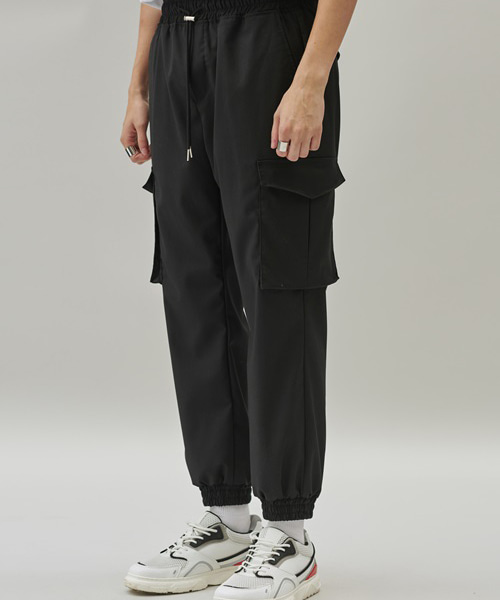 [에드] CARGO JAGGER PANTS BLACK