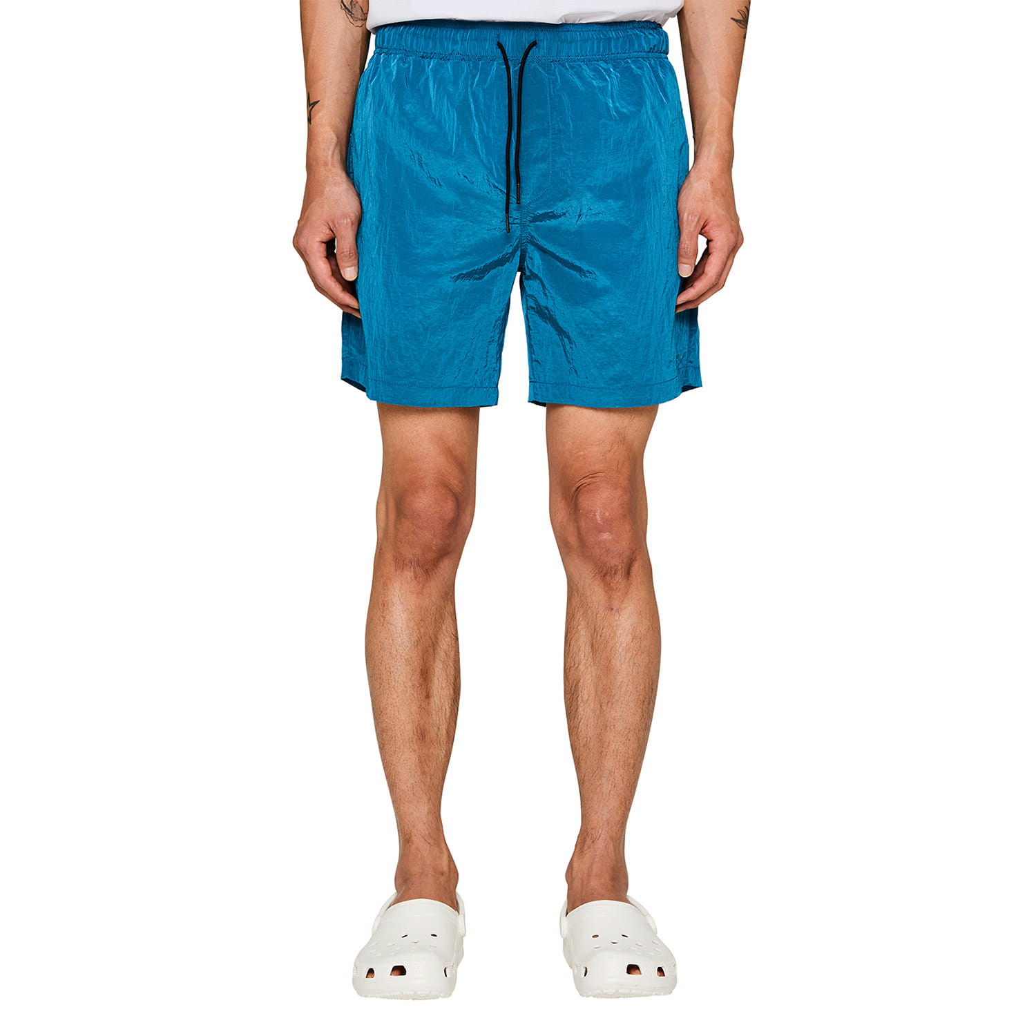 [랩 101] ICE BLUE WRINKLE NYLON SHORTS
