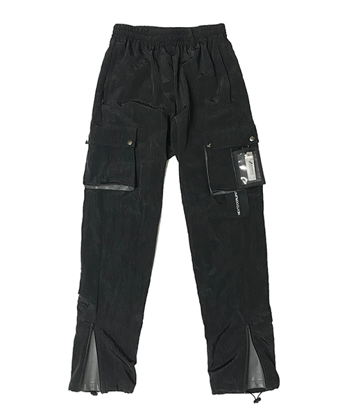 [넥스트도어립스] POLYAMIDE REFLECTIVE PANTS V2 BLACK