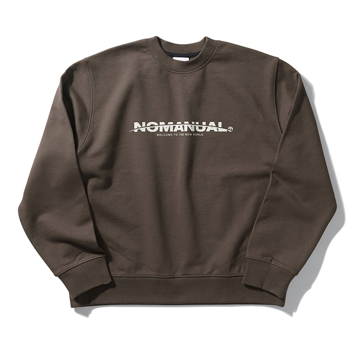[8/30 예약배송][노매뉴얼] NEW WORLD SWEATSHIRT - BROWN