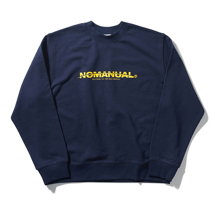 [8/30 예약배송][노매뉴얼] NEW WORLD SWEATSHIRT - NAVY