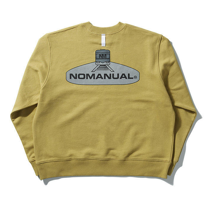 [8/30 예약배송][노매뉴얼] SUBWAY REFLECTIVE SWEATSHIRT - MUSTARD