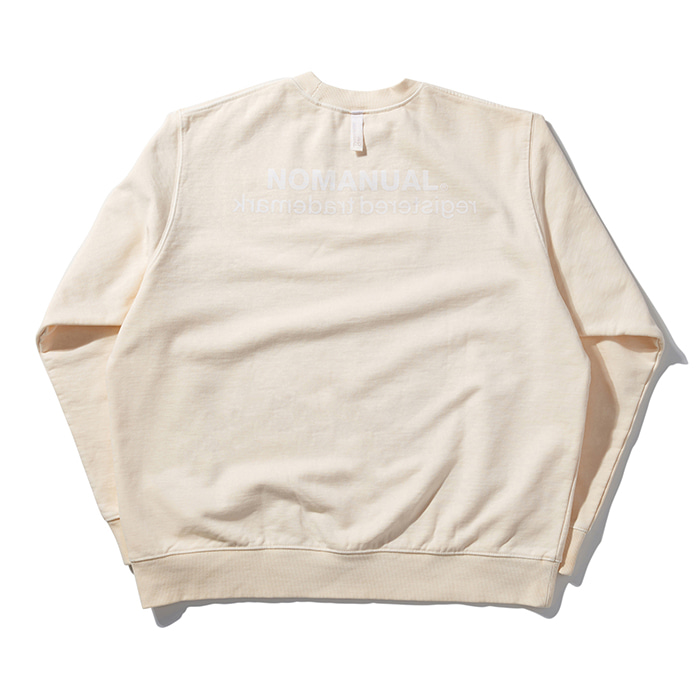 [8/30 예약배송][노매뉴얼] REVERSED TM LOGO SWEATSHIRT - CREAM