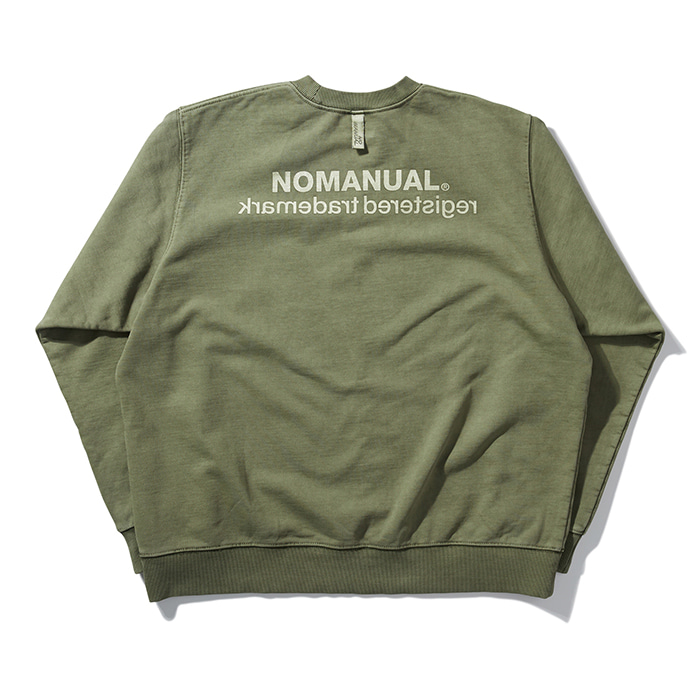 [8/30 예약배송][노매뉴얼] REVERSED TM LOGO SWEATSHIRT - KHAKI