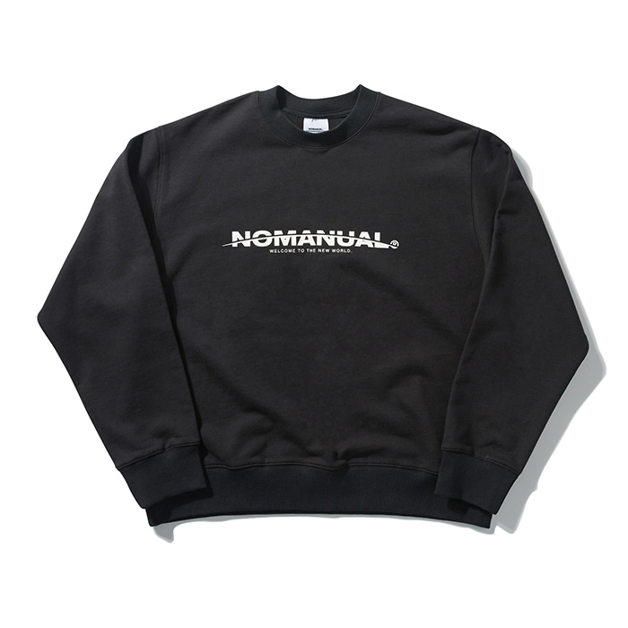 [8/30 예약배송][노매뉴얼] NEW WORLD SWEATSHIRT - BLACK
