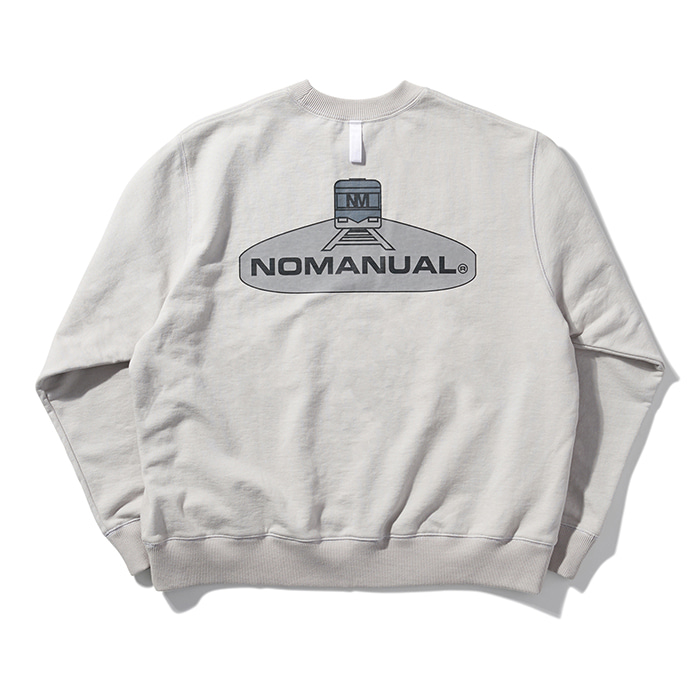 [8/30 예약배송][노매뉴얼] SUBWAY REFLECTIVE SWEATSHIRT - GREY