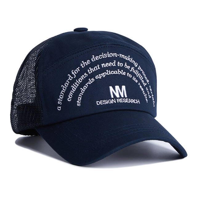 [노매뉴얼] NM RESEARCH BALL-CAP - NAVY