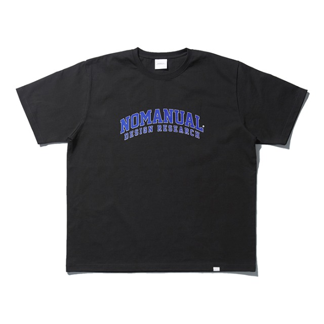 [노매뉴얼]NM UNIV. T-SHIRT - BLACK