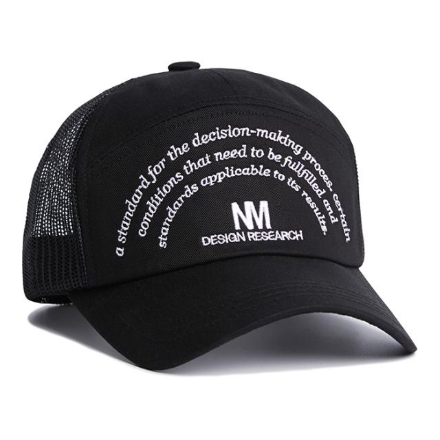 [노매뉴얼] NM RESEARCH BALL-CAP - BLACK