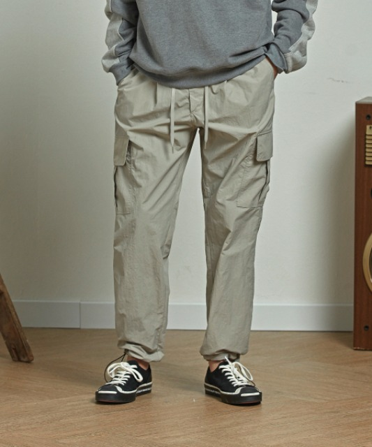 8.10 배송 [프리즘웍스] CARGO STRING PANTS _ LIGHT GRAY