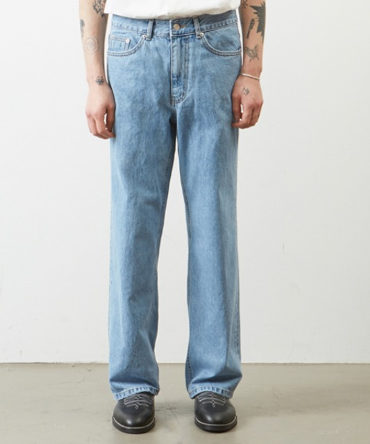 [무심] regular straight jean INDIGO