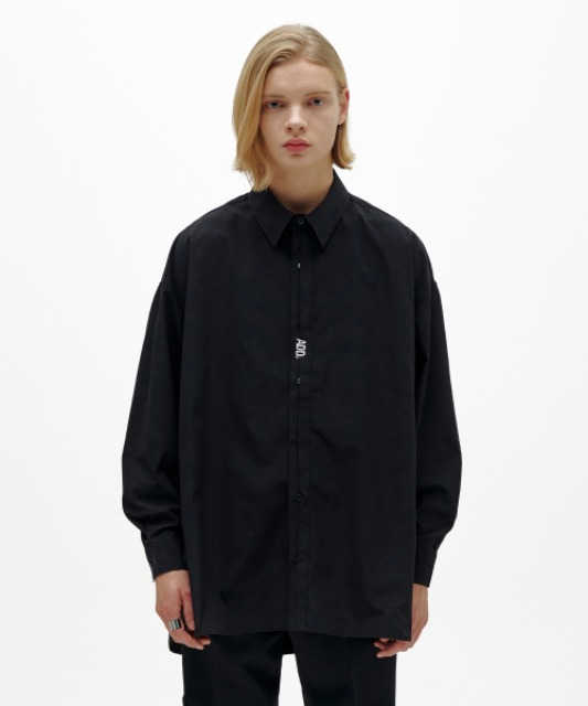 [에드] FOLDED PLACKET SHIRT BLACK