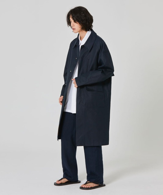 [밈더워드로브] BASIC Balmaccan Coat Navy *takeastreet limited*