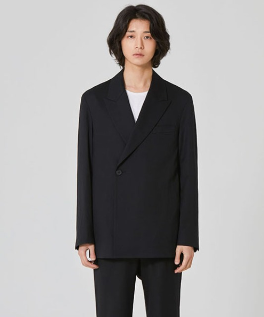 [밈더워드로브] OXTER Wool Double Jacket (Set-up)