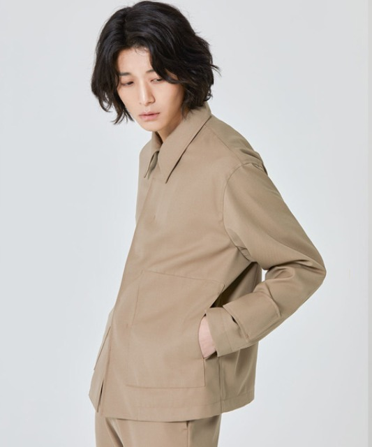 [밈더워드로브] ANDER Wool Trucker Jacket Beige
