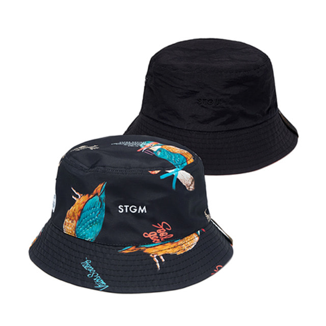 [스티그마]STIGMA BIRD REVERSIBLE BUCKET HAT PATTERN
