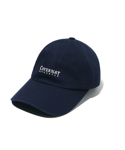 [커버낫] AUTHENTIC LOGO CURVE CAP NAVY -오프라인-