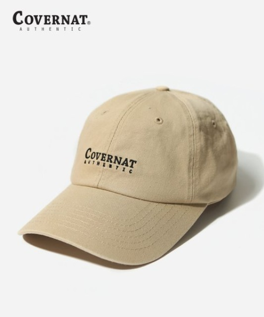 [커버낫] AUTHENTIC LOGO CURVE CAP BEIGE -오프라인-