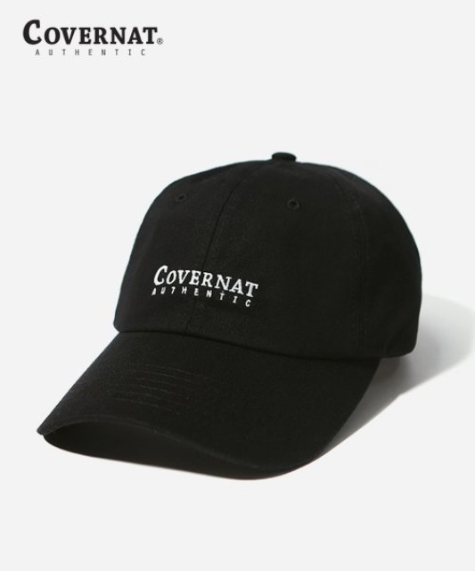 [커버낫] AUTHENTIC LOGO CURVE CAP BLACK -오프라인-