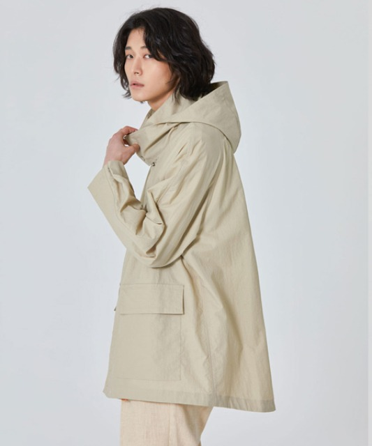 [밈더워드로브] BRIZ Soft Hooded Shell Parka_Beige