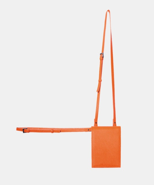 [밈더워드로브] 3-Way Leather Mini Bag_Embo Orange