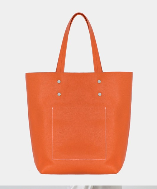 [밈더워드로브] Stitch Leather Tote Bag_Orange