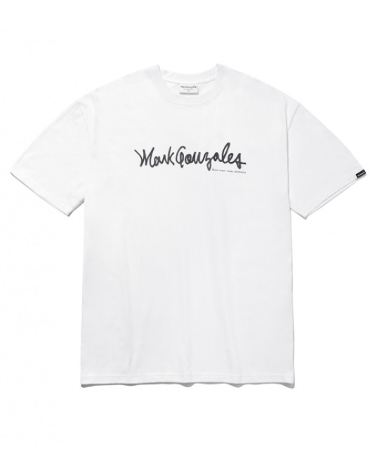 [마크곤잘레스] M/G SIGN LOGO T-SHIRTS WHITE