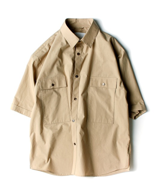 [아워셀브스] 4POCKET WIDE HALF SHIRTS (Sand beige)