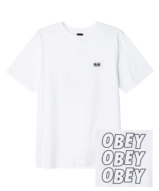 [오베이] OBEY JUMBLED EYES 2 -WHITE