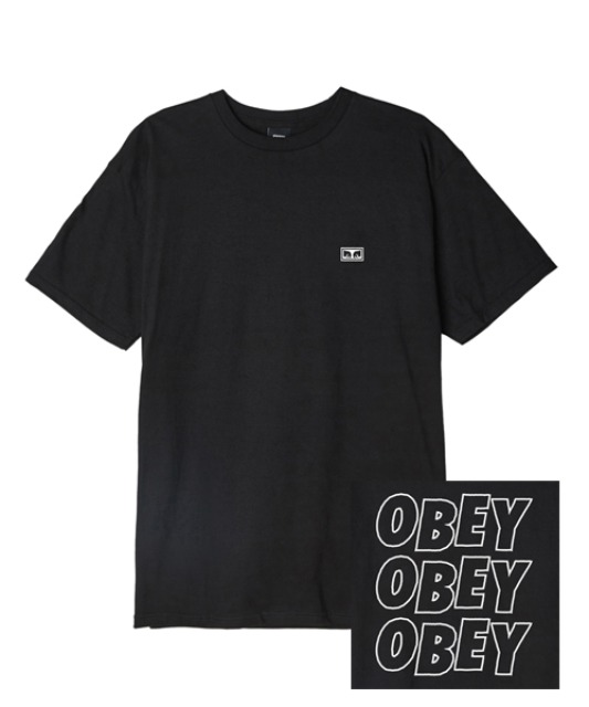[오베이] OBEY JUMBLED EYES 2 - BLACK
