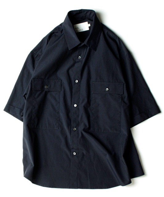 [아워셀브스] [SC#1] 4POCKET WIDE HALF SHIRTS (Deep Navy)
