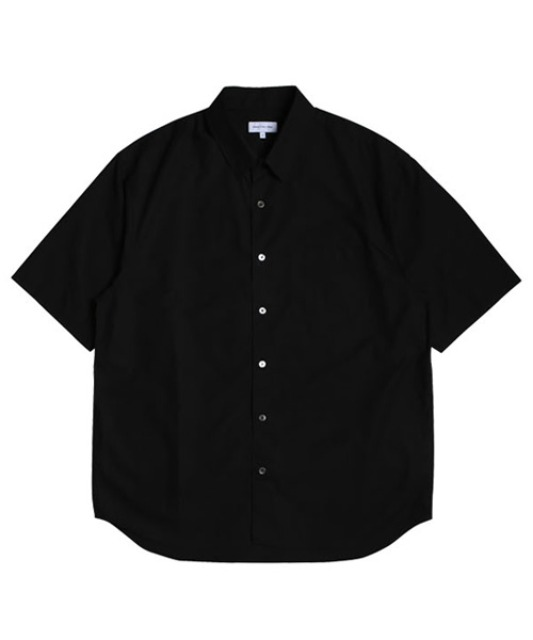 [스테디에브리웨어] Relaxed Half Sleeved Daily Shirts (Black)