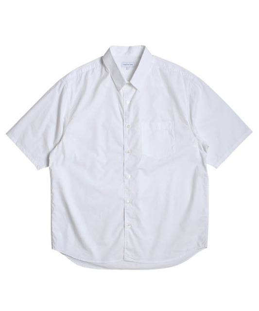 [스테디에브리웨어] Relaxed Half Sleeved Daily Shirts (White)