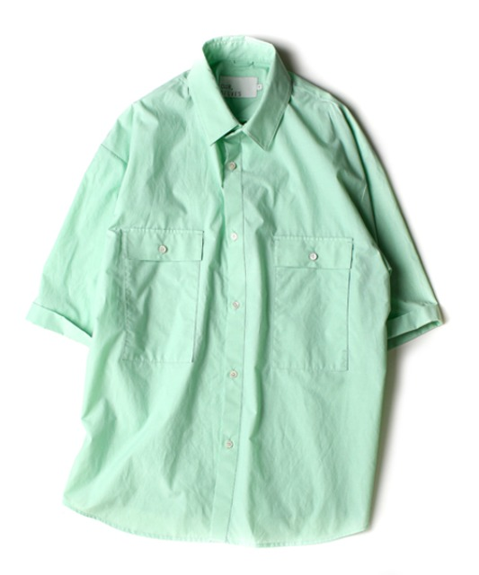 [아워셀브스] [SC#1] 4POCKET WIDE HALF SHIRTS (Cool Mint)