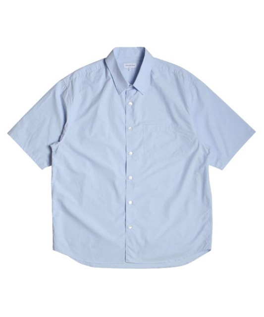 [스테디에브리웨어] Relaxed Half Sleeved Daily Shirts (Sky Blue)