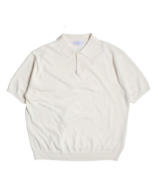 [스테디에브리웨어] Linen Half Sleeved Collar Knit (Ivory)